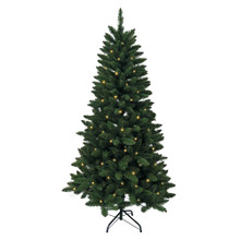 Don't have enough time to decorate your Christmas tree this year? That's okay – with this Kurt Adler 6-ft Pre-Lit Green Pine Tree, you won't need to worry about putting on the light sets! With 300 clear UL-approved lights, 618 tips, a 38-in girth, and a metal stand, this green pine tree is the perfect size for and addition to your holiday decoration. With a couple of ornaments and a treetop, the feel of Christmas will soon be here.
