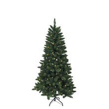 Don't have enough time to decorate your Christmas tree this year? That's okay with this Kurt Adler pre-lit LED green pine Christmas tree, you won't need to worry about putting on the light sets! This tree comes pre-lit with 150 warm white LED lights. With 350 tips and a 32-in girth, this tree has a full and realistic look. Simply add your favorite ornaments and treetop!