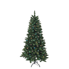 Don't have enough time to decorate your Christmas tree this year? That's okay – with this Kurt Adler 4.5-ft Pre-Lit LED Green Pine Tree, you won't need to worry about putting on the light sets! With 200 multi-color UL-approved LED lights, 350 tips, a 32-in girth, and a metal stand, this green pine tree is the perfect size for and addition to your holiday decoration. With a couple of ornaments and a treetop, the feel of Christmas will soon be here.