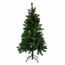 Add a bright, unique touch to your holiday lighting decoration with this Twinkly LED hinged Pine Christmas tree. This tree boasts 380 tips and has a red, green and blue chip in each of the 125 LED lights. The Twinkly light sets operate via Wi-Fi through the Twinkly app available for free on your smartphone. Use the app to choose from numerous animated light displays, or create your own light display in any pattern in any combination of 15 million available light colors.