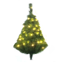 This Kurt Adler 28-in Pre-Lit Norway Pine LED Wall Tree is a beautiful, classic way to add to your holiday decoration. Ideal for limited spaces, this pre-lit half tree has a flat back and hangs on the wall. Tree stand is not required or included. It comes pre-lit with 35 lights so you don't have to worry about putting on the light sets! Simply add your favorite ornaments and treetop to complete this classic looking tree. Perfect way to add holiday cheer when space is limited.