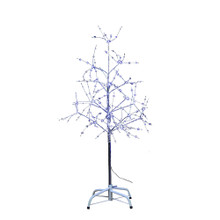 The 6-feet silver bark cool white LED fairy lites tree from Kurt Adler is great way to spice up your holiday collection this season. The tree features cool white fairy lites on silver branches and bark.