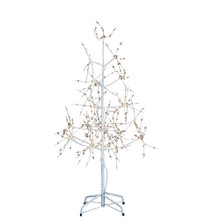 The 4-ft white birch bark warm white fairy lites tree from Kurt Adler is a charming addition to your holiday decoration. The tree features warm white fairy lites on a white bark with white branches.