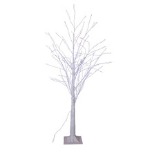 This 4-ft Winter White Twig Tree from Kurt Adler is a charming addition to your holiday decoration. This tree features 500 cool white fairy lights in white bark with white branches. It boasts 118-in lead wire and an IP44 UL adaptor. This is a beautiful and festive way to add to your holiday lighting.