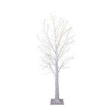 This 4-ft Winter white Twig Tree from Kurt Adler is a charming addition to your holiday decoration. This tree features 500 warm white fairy lights in white bark with white branches. It boasts 118-in lead wire and an IP44 UL adaptor. This is a beautiful and festive way to add to your holiday lighting.