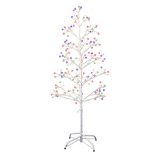 This 4-ft Pre-Lit White Birch Twig Tree with Multi-Color 8-Function Lights from Kurt Adler is a charming addition to your holiday decoration. It boasts 118-in lead wire and an UL IP44 adaptor. This tree features white bark, white branches and 195 multi-color fairy lights with eight different lighting functions including combination, in waves, sequential, slow glow, chasing/flash, slow fade, twinkle/flash and steady on.