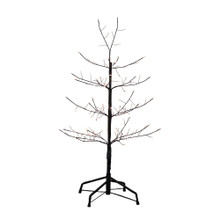 This 3-ft Pre-Lit Black Twig Tree from Kurt Adler is a unique addition to your holiday decoration. It boasts 18-in lead wire and an UL IP44 adaptor. This tree features black bark, black branches and 118 warm white fairy lights as well as 30 cool white LED twinkle fairy lights.