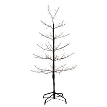 This 4-ft Black Twig Tree from Kurt Adler is a unique addition to your holiday decoration. It boasts 118-in lead wire and a UL IP44 adaptor. This tree features black bark, black branches and 166 warm white fairy lights as well as 40 cool white LED twinkle fairy lights.