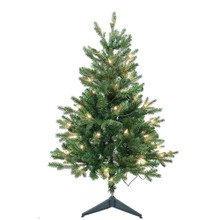 """This 3-ft Pre-Lit Clear Incandescent Jackson Pine Tree from Kurt Adler is the perfect addition to your holiday decoration. Perfect for small spaces, this 3-ft tree features 426 tips, a 25"""" girth and 50 clear incandescent lights. Adds just the right amount of holiday cheer to any home!"""