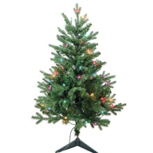 """This 3-ft Pre-Lit Multi-color Incandescent Jackson Pine Tree from Kurt Adler is the perfect addition to your holiday decoration. Perfect for small spaces, this 3-ft tree features 426 tips, a 25"""" girth and 50 multi-color incandescent lights. Adds just the right amount of holiday cheer to any home!"""