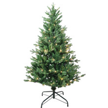 """This 4.5-ft Warm White LED Jackson Pine Tree from Kurt Adler is the perfect addition to your holiday decoration. Its green 4.5-ft design boasts 1000 tips and a 35"""" girth. Pre-lit, this tree has a total of 160 warm white LED lights. Just add your favorite ornaments to complete the look."""
