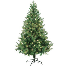 "This 5-ft Warm White LED Jackson Pine Tree from Kurt Adler is the perfect addition to your holiday decoration. This 5-ft tree features 1240 tips, a 39"" girth and 190 warm white LED lights. Adds just the right amount of holiday cheer to any home!"