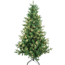 "This 5-ft Pre-Lit Clear Incandescent Jackson Pine Tree from Kurt Adler is the perfect addition to your holiday decoration. Its green 5-ft design boasts 1240 tips and a 39"" girth. Pre-lit, this tree has a total of 200 clear incandescent lights. Just add your favorite ornaments to complete the look."