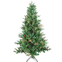 "This 5-ft Pre-Lit Multi-color Incandescent Jackson Pine Tree from Kurt Adler is the perfect addition to your holiday decoration. Its green 5-ft design boasts 1240 tips and a 39"" girth. Pre-lit, this tree has a total of 200 multi-color incandescent lights. Just add your favorite ornaments to complete the look."