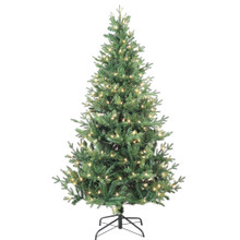 "This 6-ft Pre-Lit Clear Incandescent Jackson Pine Tree from Kurt Adler is the perfect addition to your holiday decoration. Its green 6-ft design boasts 1692 tips and a 44"" girth. Pre-lit, this tree has a total of 250 clear incandescent lights. Just add your favorite ornaments to complete the look."