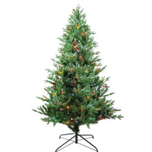 "This 6-ft Pre-Lit Multi-color Incandescent Jackson Pine Tree from Kurt Adler is the perfect addition to your holiday decoration. Its green 6-ft design boasts 1692 tips and a 44"" girth. Pre-lit, this tree has a total of 250 multi-color incandescent lights. Just add your favorite ornaments to complete the look."