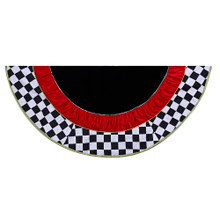 Complete your Christmas tree decor with this Kurt Adler 52-in Black and White Checkered Treeskirt. With Its black and white checkerboard border design and layers of black and red in the center, this tree skirt is sure to lend a fun and unique style to your tree!