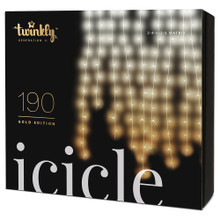 Twinkly 190-Light AWW LED Icicle Light Set from Kurt Adler brings you a completely new generation of LED curtain light decor. With Twinkly Icicle, only your imagination is the limit, as you can use the free Twinkly App available for Android and iOS to display an infinite number of festive light effects or custom drawings as a unique piece of home decoration. With LED lights per drop, 15 drops in total, this light set is perfect for doorways, party decoration, dorm rooms, bedrooms, garden lighting, outdoor patio lighting, holiday decoration, party backdrops and more! The light set features a drop length of 2.6 feet, 80-in lead and 4-in spacing between each icicle with a total lighted length of 4.9 feet.