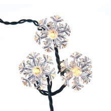 """This Kurt Adler 35-Light Double Layer Snowflake Reflector Set is a unique, bright way to add to the lighting of your Christmas tree or holiday decoration! Each light in this set is 6-pointed white reflective snowflake with clear bulbs in each center, giving the impression of falling, shimmering snowflakes, even indoors. This indoor/outdoor set comes with clear reflector and bulbs, and a 24x5x5"""" wire."""
