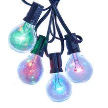This Kurt Adler UL 10-Light G40 Multi LED Light Set is a classic, festive way to add to the lighting of your Christmas tree and holiday decoration. Each of the 10 lights in this light set features the traditional G40 bulb design in bright multi-colors including red, green, blue, and purple.