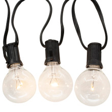 Add to the lighting of your holiday decoration with this 10-Light G40 Warm White LED Clear Glass Light Set from Kurt Adler. Each of the bulbs is modeled after a G40 bulb, with a single filament bulb. This set features warm white bulbs for a festive glow.