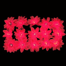 Kurt Adler 35-Light Red Poinsettia Light Set #UL0038/R