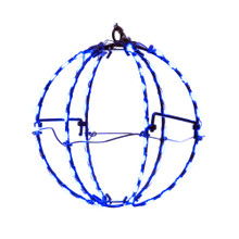 Add some light to any holiday decoration with Kurt Adler 6-in Blue LED Foldable Metal Sphere. This light sphere features 6 wire spokes with 15 lights each for a total of 90 lights. Each light gives a blue glow sure to brighten up any holiday decoration.