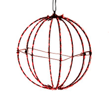 Add some light to any holiday decoration with Kurt Adler 8-in Red LED Foldable Metal Sphere. This light sphere features 8 wire spokes with 20 lights each for a total of 160 lights. Each light gives a red glow sure to brighten up any holiday decoration.