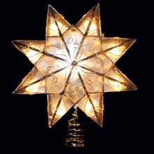 Kurt Adler 10-Light Capiz Star Clear Treetop UL0271