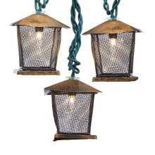 This 10-Light Lantern Light Set from Kurt Adler is a unique addition to any holiday decoration or Christmas tree. Each light features a metal lantern, 10 lights in total. This light set is perfect for adding an old-fashion or rustic inspired look to your decoration.