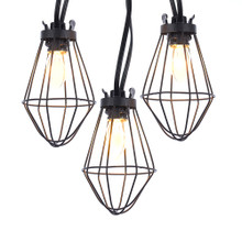 This Kurt Adler 10-Light C7 Metal Case Light Set adds a modern DIY inspired look to your home and holiday decoration. Each C7 bulb in this set has a trendy, industrial caged around the bulb. This light set is perfect for adding an old-fashion or rustic inspired look to your decoration.