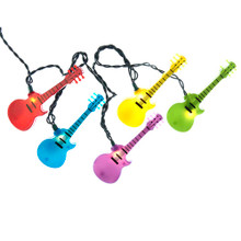 Add to your lighting and decoration with this guitar light set from Kurt Adler. This set features colorful guitar light covers, perfect for decorating your music studio, classroom, or any other area you can think of.