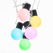 This Kurt Adler 18-Light MultiColored LED Party light set is a unique and festive way to add to the lighting of your holiday decoration. Each light in this set has a three dimensional bulbs with remote control and 10-ft lead wire.