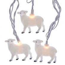 This UL 10-Light Sheep Light Set from Kurt Adler is a unique addition to your holiday decoration or Christmas tree. This light set includes 10 white sheep, each with a clear incandescent bulb and white wire. It also boasts a 30-in lead wire, 12-in light spacing and a 6-in tail wire and end connector.