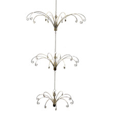 """This Kurt Adler 33"""" Metal Gold Ceiling Suspended Tree is a beautiful, unique way to add to your holiday decoration! A unique alternative to traditional Christmas trees, this gold metal display hangs from your ceiling and, with Its simple hook design, easily hangs several of your favorite Christmas ornaments for a wonderful, festive look."""
