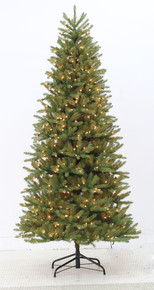 Puleo International 7.5ft Slim Ozark Blue Tree in Clear