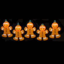 Kurt Adler 10-Light Gingerbread Christmas Light Set