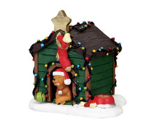 Lemax Decorated Light Doghouse #02808