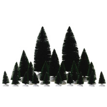 Lemax Village Collection Assorted Fir Trees, Set of 21 #74691