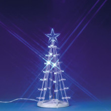 Lemax Village Collection Lighted Silhouette Tree Blue Medium #74658