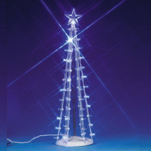 Lemax Village Collection Lighted Silhouette Tree Blue Large #74657