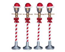Lemax Village Collection Santa Hat Street Lamp, set of 4 #64472