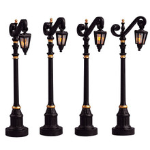 Lemax Village Collection Colonial Street Lamp, set of 4 #54313