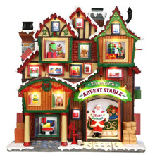 Lemax Village Collection Dasher's Advent Stable Façade #35561