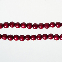 Kurt Adler 9' Wooden Burgundy Bead Garland TN0066/BURG