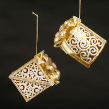 Kurt Adler Silver & Gold Gift Box # W20266