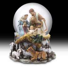 Kurt Adler Holy Family Musical Waterglobe # C7101