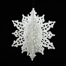 Kurt Adler 8in Iridescent White Snowflake # H9114