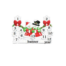 Rudolph & Me Family of 13 Red Snowflake Gate Personalized #TT210R