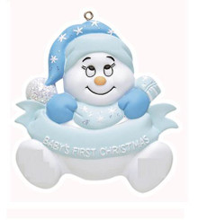 Rudolph & Me Snowbaby's First Christmas Personalized Ornament #122BW